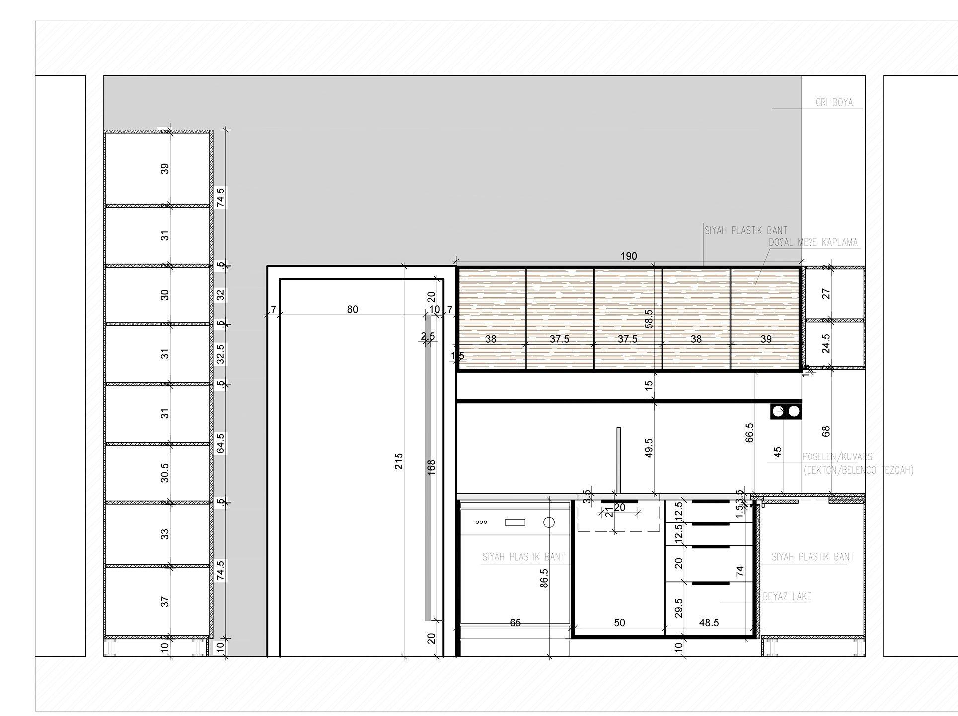 Erbay Apartmanı Daire İç Mekan Tasarımı