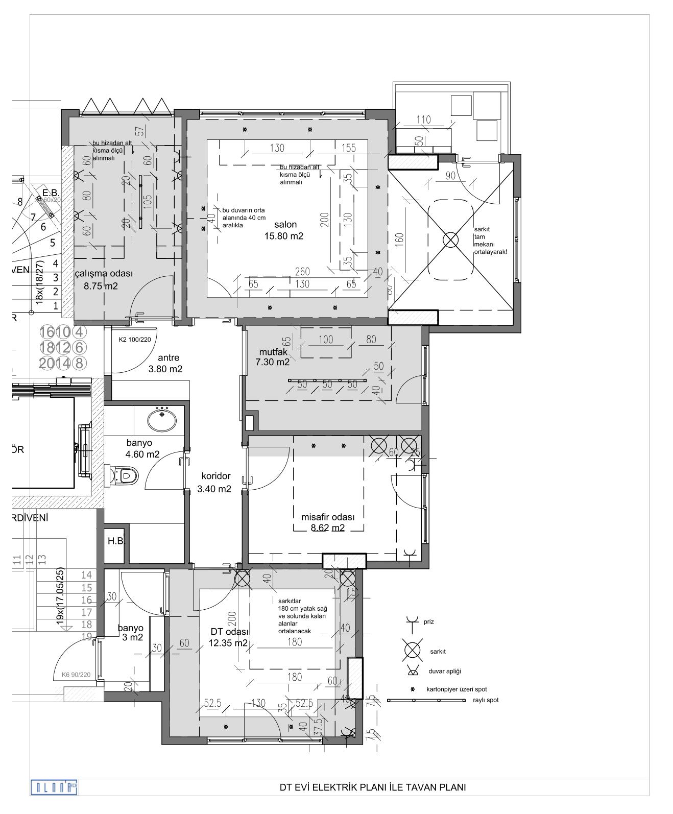 DT dairesi tavanplan
